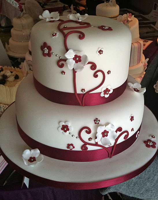 Related pictures famous two tier square wedding cakes