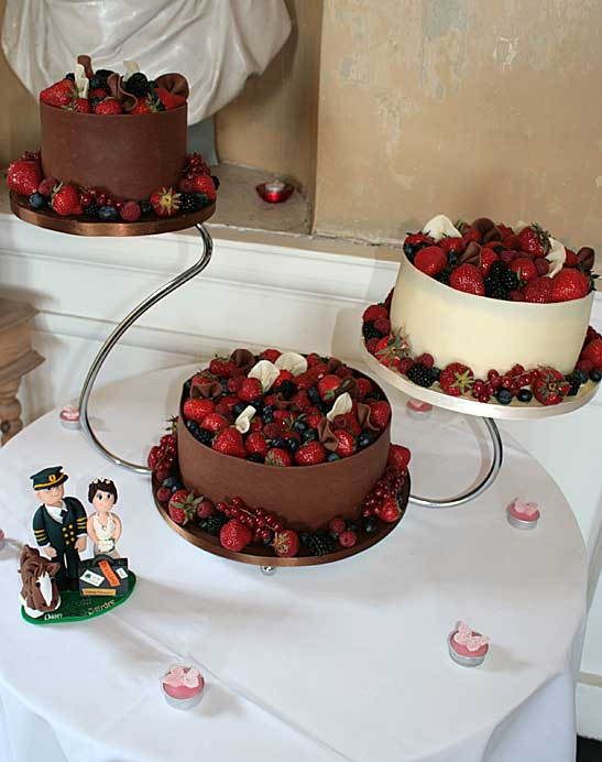 Chocolate Cake Wrap Berries